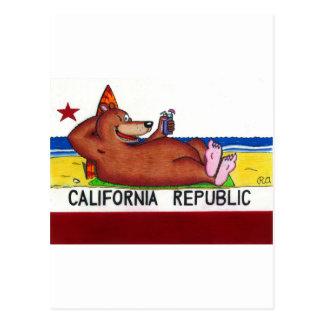 Rostige Kalifornien-Bärn-Flagge Postkarte
