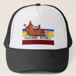 Rostige Kalifornien-Bärn-Flagge Truckerkappe