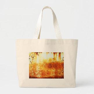 rostiger brauner Kunstbrand-Papierrauch abstrakte  Jumbo Stoffbeutel