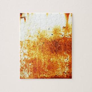 rostiger brauner Kunstbrand-Papierrauch abstrakte  Puzzle