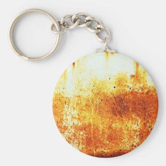 rostiger brauner Kunstbrand-Papierrauch abstrakte  Schlüsselanhänger