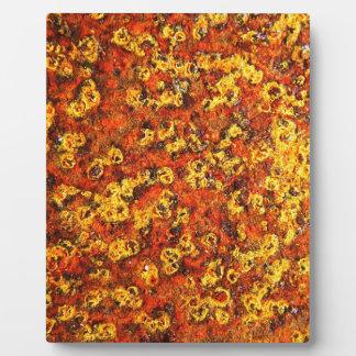 rostiger brauner Kunstbrand-Rauch abstrakter antik Fotoplatte
