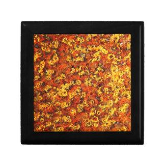rostiger brauner Kunstbrand-Rauch abstrakter antik Geschenkbox