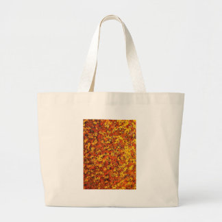 rostiger brauner Kunstbrand-Rauch abstrakter antik Jumbo Stoffbeutel