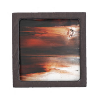 rostiger brauner Kunstbrand-Rauch abstrakter antik Kiste