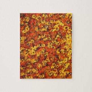 rostiger brauner Kunstbrand-Rauch abstrakter antik Puzzle