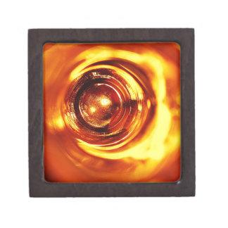 rostiger brauner Kunstbrand-Rauch abstrakter antik Schachtel