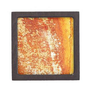 rostiger brauner Kunstbrand-Rauch abstrakter antik Schmuckkiste