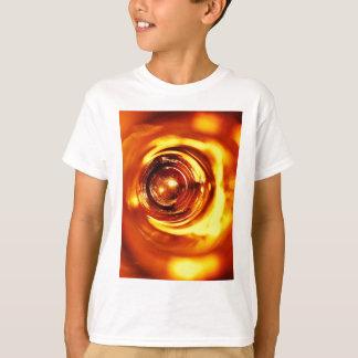rostiger brauner Kunstbrand-Rauch abstrakter T-Shirt