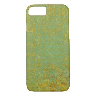 Rostiger Limoner grüner Muster-Hintergrund iPhone 8/7 Hülle