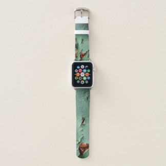 Rostiges Metall des coolen Türkisbrauns Apple Watch Armband