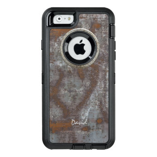 Rostiges Metall Steampunk mit Namenscoolem OtterBox iPhone 6/6s Hülle