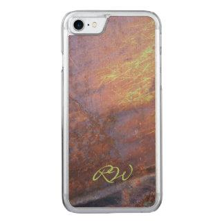 Rostiges Metallzinn-Dach Carved iPhone 8/7 Hülle