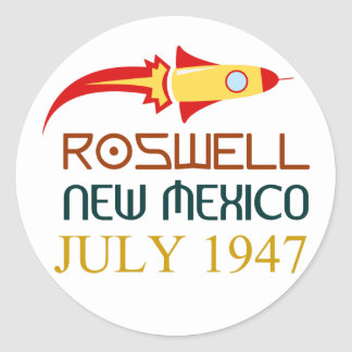 Roswell New Mexiko july 1947 Runder Aufkleber