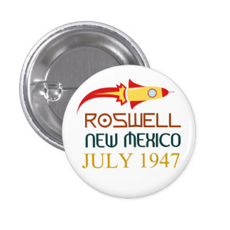 Roswell, New Mexiko, july 1947, Runder Button 3,2 Cm