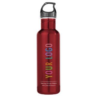 Rot 24 kundenspezifisches Logo Unze gedruckt Edelstahlflasche