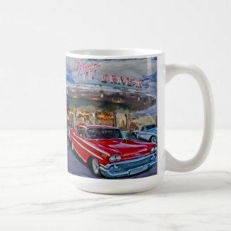 Rot 58 chevy am Autokino Kaffeetasse