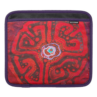 Rot - abstrakte Ipad Hülse Sleeve Für iPads