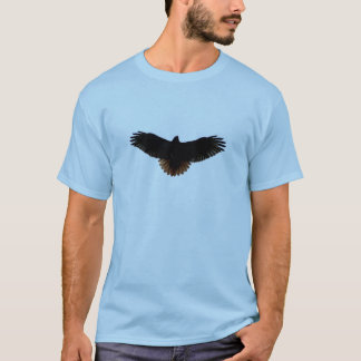 Rot-angebundene Falke-Silhouette T-Shirt