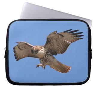 Rot angebundene Falke-Vogel-Raubvogel-Tier-Tiere Laptopschutzhülle