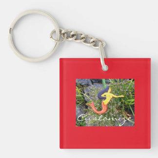 rot-angebundene sirena Meerjungfrau Schlüsselanhänger