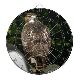 Rot angebundener Falke Dartscheibe