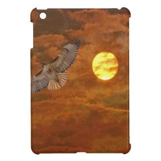 Rot angebundener Falke und rote Himmel Hülle Für iPad Mini