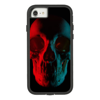 Rot-Aquamariner menschlicher Schädel iPhone 8 Fall Case-Mate Tough Extreme iPhone 8/7 Hülle