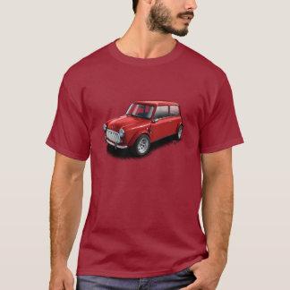 Rot auf kastanienbraunem klassischem Miniauto-T - T-Shirt