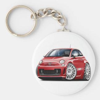 Rot-Auto Fiats 500 Abarth Schlüsselanhänger