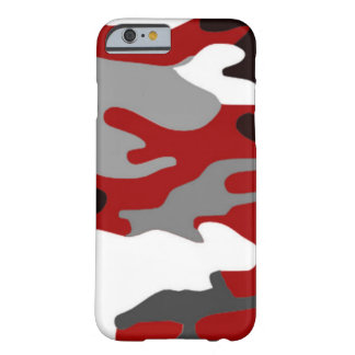 Rot beschattet Camouflage Barely There iPhone 6 Hülle
