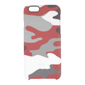 Rot beschattet Camouflage Durchsichtige iPhone 6/6S Hülle