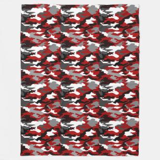 Rot beschattet Camouflage Fleecedecke