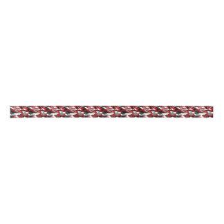 Rot beschattet Camouflage Satinband
