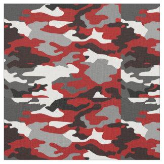 Rot beschattet Camouflage Stoff