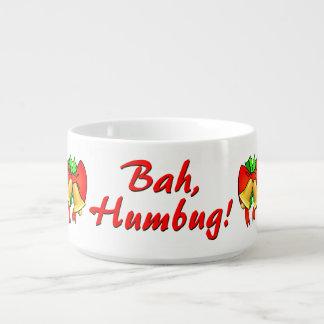 Rot beugt goldenen festlichen Bah Humbug Bell! Schüssel