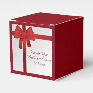 Rot beugt Winter-Hochzeit Geschenkschachtel
