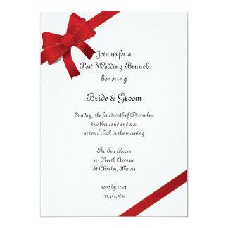 Rot beugt Winter-Posten-Hochzeits-Brunch 12,7 X 17,8 Cm Einladungskarte