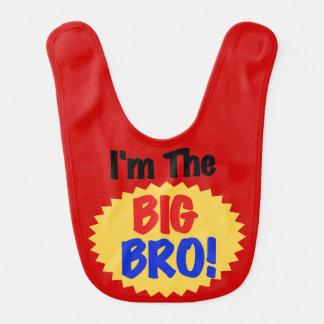 Rot bin ich der große Bro Schellfisch Babylätzchen