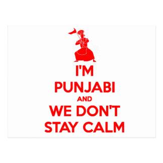 (ROT) bin ich Punjabi und wir bleiben nicht ruhig Postkarte