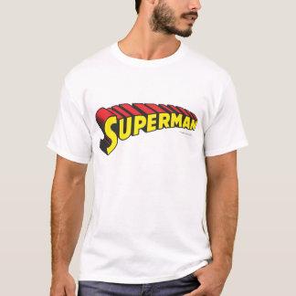 Rot-Buchstabe-Logo des Supermann-  gelbes T-Shirt