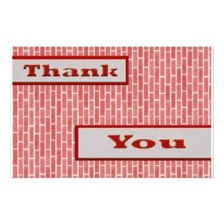 Rot danken Ihnen Flyer Druck