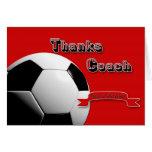 Rot dankt Fußball-Trainer Karte