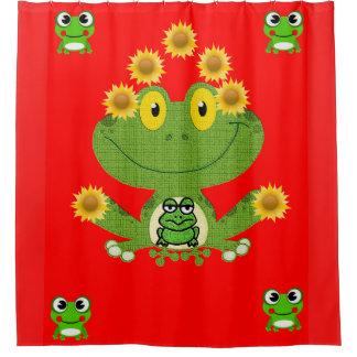 Rot das showercurtain der grüne gelbe Froschkinder Duschvorhang
