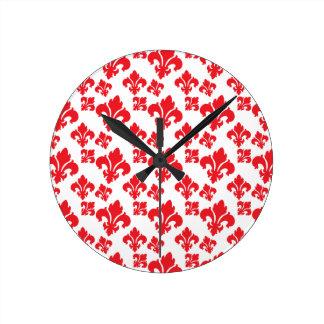 Rot der Lilien-4 Uhren