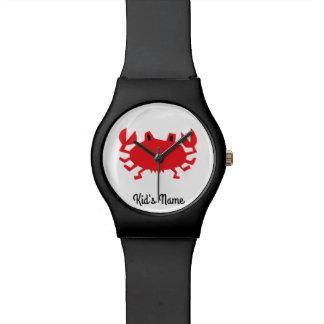 Rot der Seekrabbe Armbanduhr