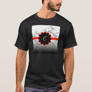 Rot des Monogramm-Buchstabe-C T-Shirt