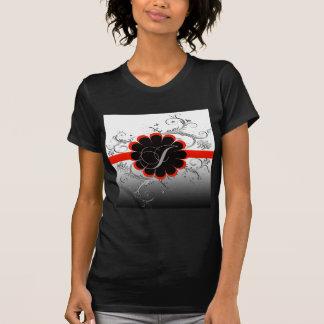 Rot des Monogramm-Buchstabe-J T-Shirt