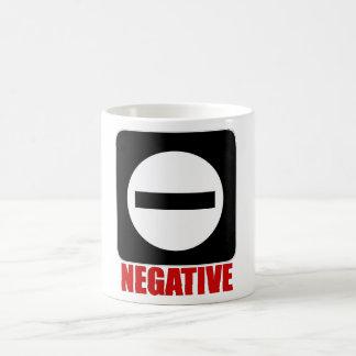 Rot des Negativ-1 Kaffeetasse