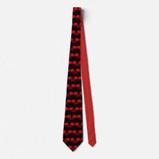 Rot des Schädel-Profil-X2 Krawatte